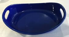 SALE! Rachael Ray Bubble & Brown LARGE 4 Qt Stoneware Open Baker Casserole BLUE