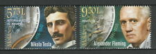 Moldova 2018 Famous People, Inventions, Tesla, Fleming 2 MNH stamps