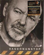 VASCO ROSSI# Vasco Non Stop#cofanetto 4 Cd + Bandiera Modena Park+adesivo New
