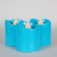 24 Blue Flameless Votive Christmas Candles Battery Flickering Led Tea Light