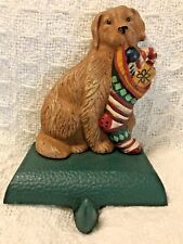 Midwest, Eddie Bauer - Dog Christmas Stocking Holder Golden Retriever Cast Iron