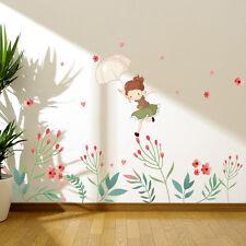 Flower Bud Wall Decal Sticker Removable Art Vinyl Mural For Girls Kid's Room DIY
