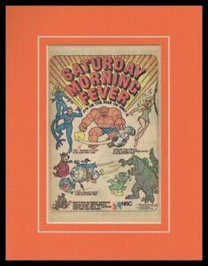 1978 Fantastic Four Cartoon / Yogi Bear ABC Framed 11x14 ORIGINAL Advertisement