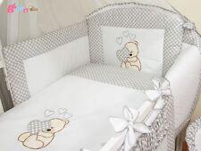 Parure de lit bébé 6 pieces tour de lit,taie,housse couette