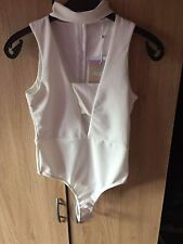 Missguided white cut-out body, UK size 8, EU size 36