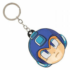 Mega Man Face Keychain Blue