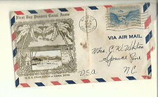 AI-011 - Sep 16, 1940 1st Day Panama Canal Envelope w Real Photo USS Charleston