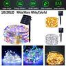 100-200 LED Solar Fairy String Light Copper Wire Outdoor Waterproof Garden Decor
