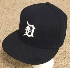 Detroit tigers MLB NEW ERA 59Fifty Blue Youth Kids FITTED Sz 6 5/8 Hat Cap NEW!