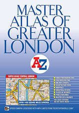 Master Atlas of Greater London by A-Z Maps (Street Map, Paperback)