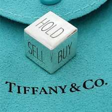 Rare TIFFANY & CO  BUY, SELL, HOLD STERLING SILVER DICE MA-TBSH8