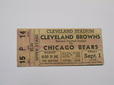 Sept 1, 1950 Cleveland Browns vs Chicago Bears Ticket Stub