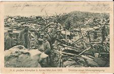 Foto AK Feldpost Trichter einer Minensprengung bei Arras - 1915