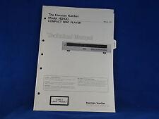 Harman Kardon HD100 CD Player Service Manual