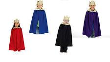 Royal King Queen Prince Cloak & Crown BNWT 4-8yo boys girls fancy dress costume