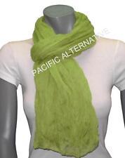 Foulard Vert Clair grand gros 110x170 femme mixte chale echarpe NEUF scarf schal