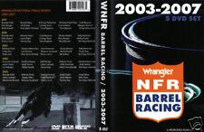 2003-2007 5 DVD set NFR barrel racing all runs 150 a year 750 total horse rodeo