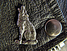 Howling Lone Wolf Classic Vintage Old School Motorcycle Vest Biker Pin 1102