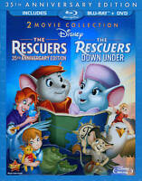 The Rescuers: 35th Anniversary Edition/The Rescuers Down Under (Blu-ray/DVD, 20…