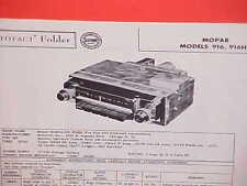 1956 PLYMOUTH BELVEDERE CONVERTIBLE FURY SAVOY PLAZA AM RADIO SERVICE MANUAL 56