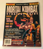 Gamepro's MORTAL KOMBAT Official Strategy Guide SNES Genesis Game Boy W/ Poster