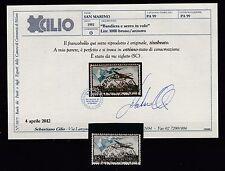 FRANCOBOLLI 1951 SAN MARINO BANDIERA POSTA AEREA L.1000 Z/5471