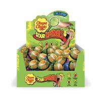 50 x CHUPA CHUPS SOUR INFERNALS LOLLIPOP ASSORTED FRUIT POPS BULK LOLLIES