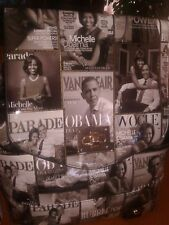 MICHELLE OBAMA MAGAZINE COVER COLLAGE BACKPACK & WALLET SET BLK/WHITE