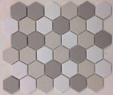 "2"" Hexagon Porcelain Matte Mosaic Tile Kitchen Backsplash Bathroom Floor Wall"