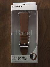 MVMT Vegan Leather Apple Watch Band 42-44mm NIB Brown