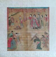 Peinture orientale très ancienne sur tissé