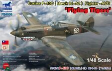 """Bronco 1/48 FB4006 Curtiss P-40C Hawk 81-A2 Fighter-AVG """"Flying Tiger"""""""