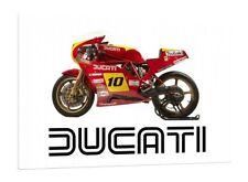 DUCATI 750 F1 Desmo 30x20 pulgadas lienzo Classic Bike enmarcado cuadro Pared Arte