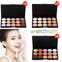 15 Colors Makeup Face Cream Contour Kit Concealer Palette Bronzer Highlighter