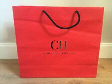 Used - CAROLINA HERRERA - bolsa de papel ROJA - Red Paper bag -