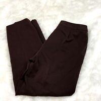 Pursuits, Ltd. 10 Petite Womens Brown Career Straight Leg Dress Pants