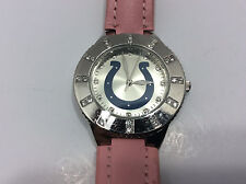 Game Time Indianapolis Colts F3252671/GT Women's Watch Silver Tone Analog Pink