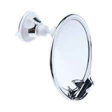 Anti Fog Bathroom Cosmetic Shaving Suction Mirror with Razor Hook 360 Swivel