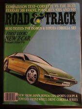 Road & Track Magazine August 1983 Nissan Z Car 3 Liter V6 No Label (FF) (TT)