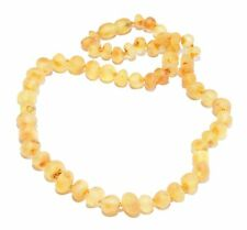 """Genuine Raw Baltic Amber Necklace for Adult 45 cm / 17.7"""" Baroque Beads 7 Colors"""