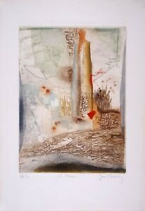 Rene CARCAN s/n Etching Aquatint La Brume - Mist 1971