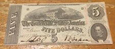 1863 T60 $5 Confederate Note