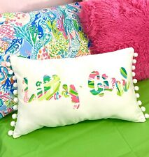 New Lilly Girl pillow made with LILLY PULITZER Alotta Colada fabric