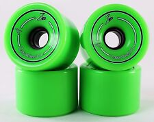 76mm 78a Gel Soft Longboard Wheels (Neon Green)