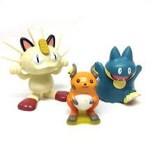 "Nintendo Games POKEMON Monsters 3"" Toy Action Figures lot set Pikachu go"