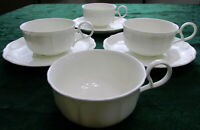 Narumi white bone china cup and saucer Lot of 7 Japan