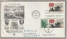 "Ersttagsbrief FDC USA ""Civil War - Battle of the Wilderness"" 1964 Marken"