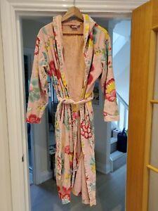 Womens Pip studio Amsterdam pink floral fantasy towelling bathrobe size XL