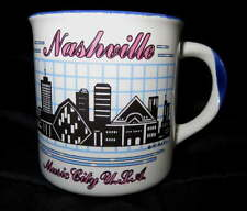 NEW Ceramic NASHVILLE Coffee MUG Cocoa Drink Vintage Cup Music City Country
