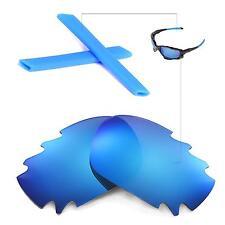 New Walleva Polarized Ice Blue Vented Lenses Blue Earsocks For Oakley Jawbone